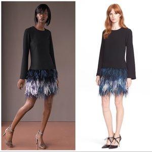"Elizabeth and James ""Serena"" feather dress 4"